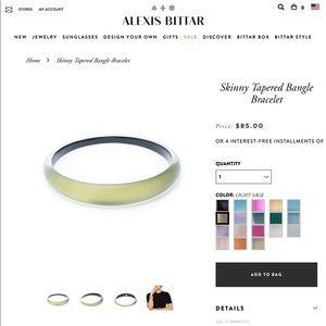 Alexis Bittar Skinny Tapered Bracelet